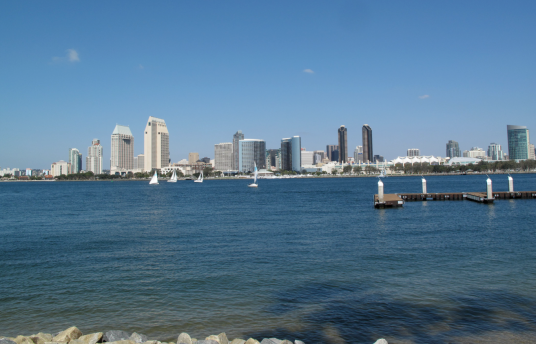 Relaxing View from the Coronado Island to San Diego 2013