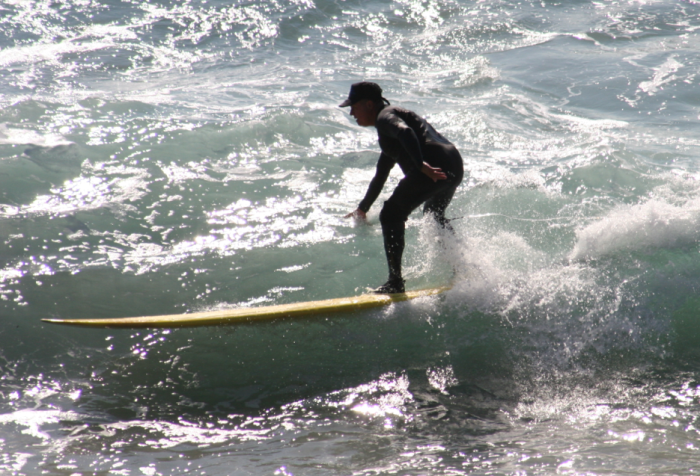 Surfer at Swamys