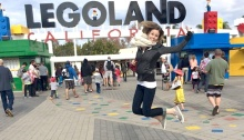 Women Jumping at the Entrance of Legoland Park - Photo taken February 20 2015