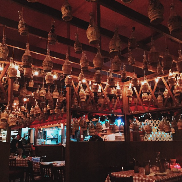 Inside Filippi's Pizza Grotto - Photo Credit Dine X Design @dineXdesign